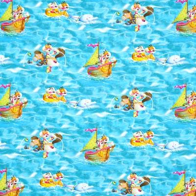 Tela Single jersey Diddl diversión en el agua –