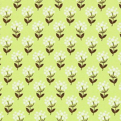 Katoen Bloesemgeluk 2   Tante Ema – groen