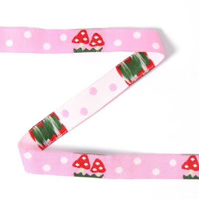 Woven Ribbon Toadstool with Dots 2