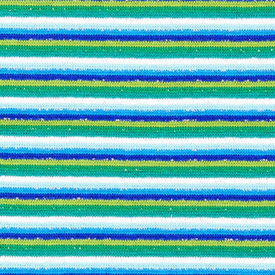 Striped Tubular Ribbing – green/blue