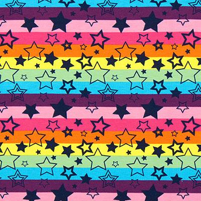 Jersey Sterren en strepen 2 – pink/lila