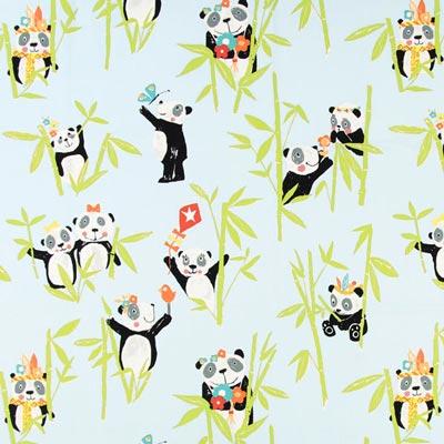 Half Panama Panda – aquablauw