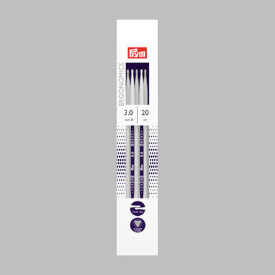 3,0 | 20 cm Strumpfstricknadel | Ergonomics Prym
