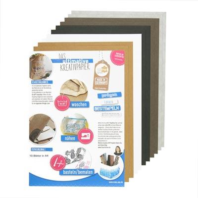 SnapPap Lederpapier Sortiment, (10 x A4)