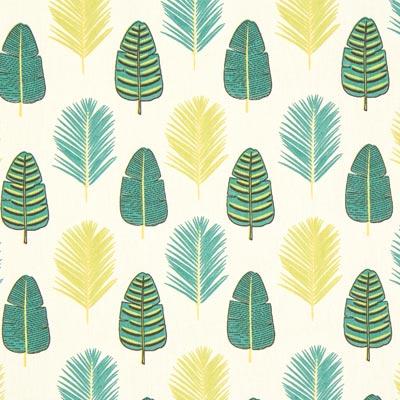Cretonne Palmbladeren – ecru/groen