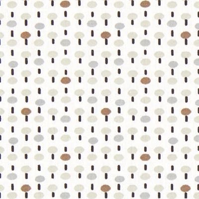 Cretonne Paddenstoel Pitt 1 – wit/bruin
