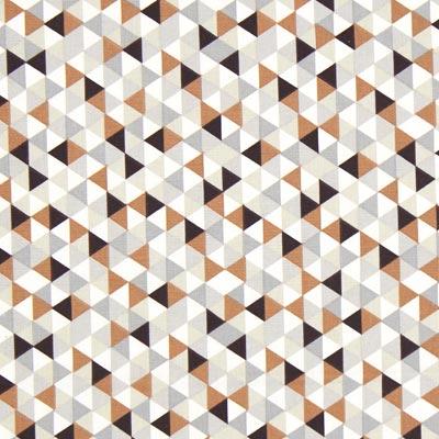 Cretonne Driehoeken Trimix 1 – koper