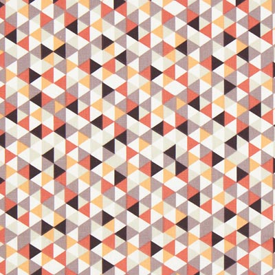 Cretonne Driehoeken Trimix 2 – rood