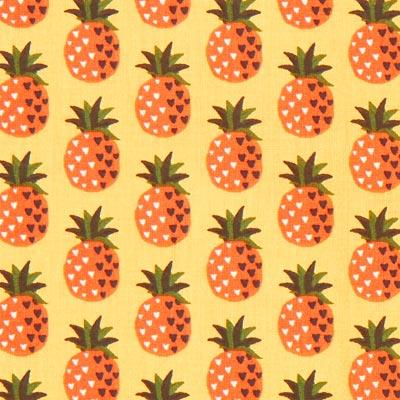 Cretonne Ananas Anak – geel/oranje