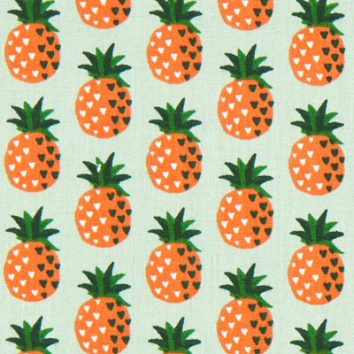 Anak Pineapple Cretonne – reed/orange
