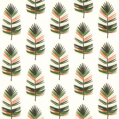 Cazen Feather Cretonne – offwhite/green