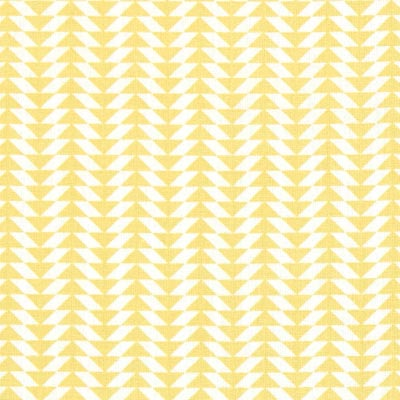 Cretonne Driehoeken Chey 4 – wit/lichtgeel