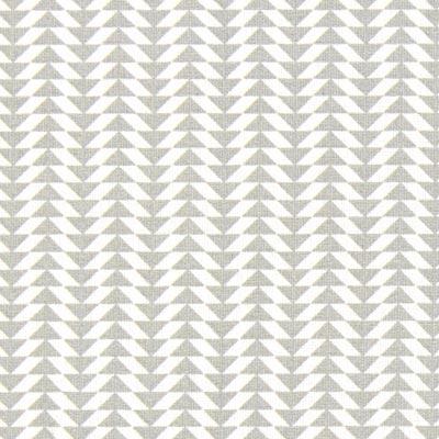 Cretonne Driehoeken Chey 5 – wit/grijs