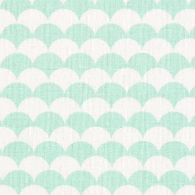 Cretonne Bogen Ecay 3 – wit/mintgroen