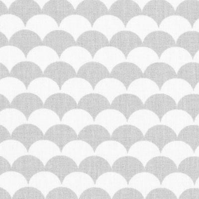 Cretonne Bogen Ecay 5 – wit/grijs