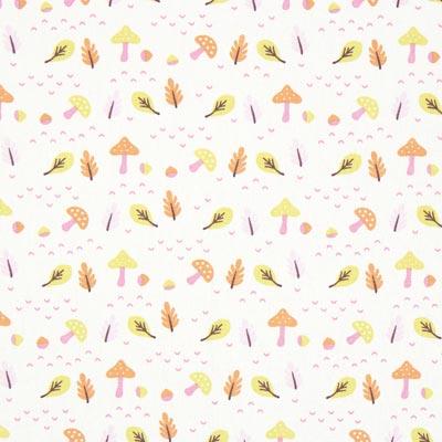 Cretonne Paddenstoel Heryco – wit/roze