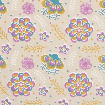 Cretonne Izia – beige/lila