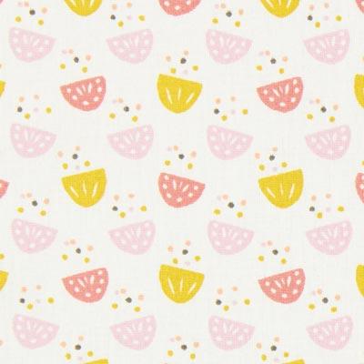 Cretonne Juna – wit/roze