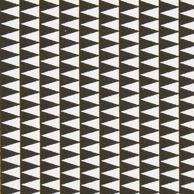 Cretonne Driehoeken Kano 1 – zwart/wit