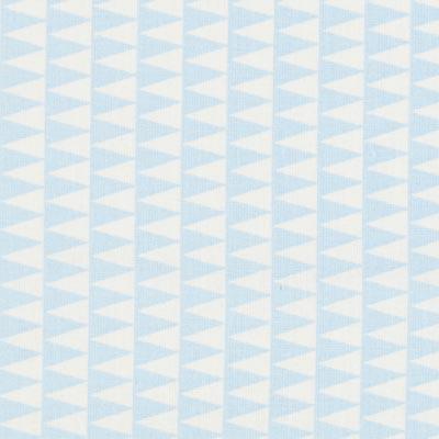 Cretonne Kano 2 – wit/lichtblauw