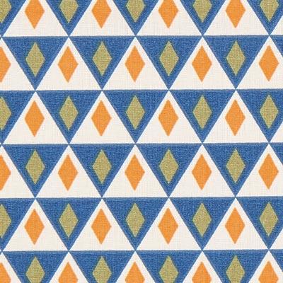 Cretonne Nelson 1 – beige/blauw