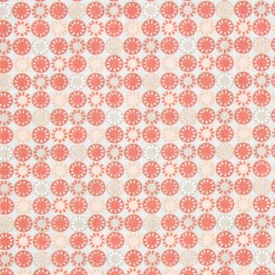 Cretonne Cirkels Pepy 1 – beige/rood
