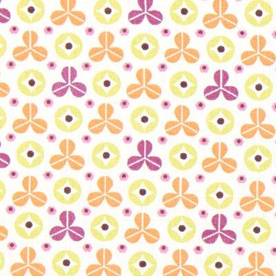 Cretonne Rexpoi 1 – wit/oranje