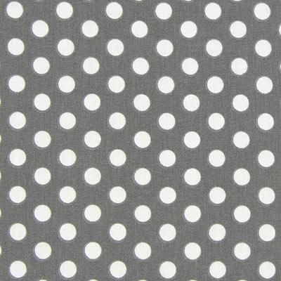 Katoenen stof Stippen - grijs lichtgrijs