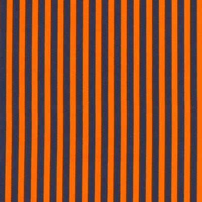 Gestreepte stof - oranje blauw