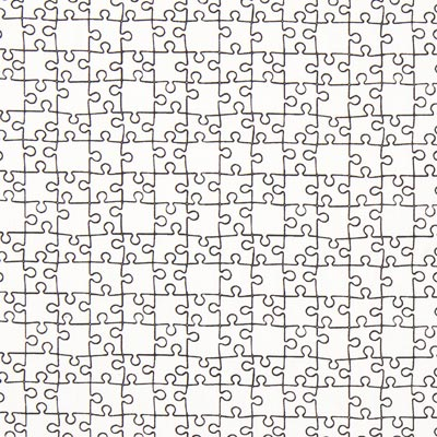 Colouring Fabric Puzzle Poplin – white