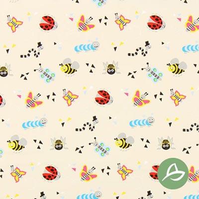 Tula Insecten biologische katoen GOTS – beige/pink
