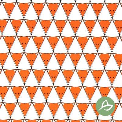 Tula Zorro Triángulo Bio Jersey GOTS – blanco