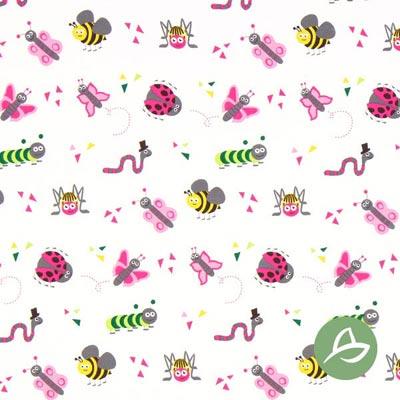 Tula Insecten Biologische Jersey GOTS – wit