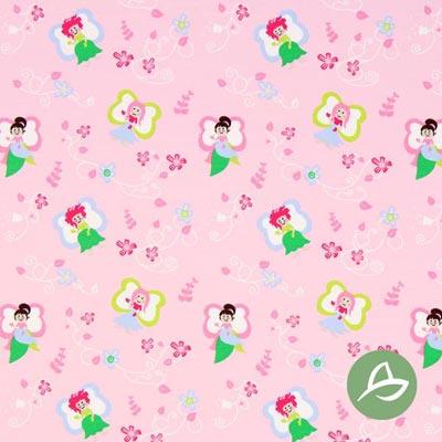 Tula Feeën Biologische Jersey GOTS – roze