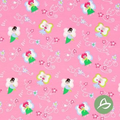 Tula Feeën Biologische Jersey GOTS – pink