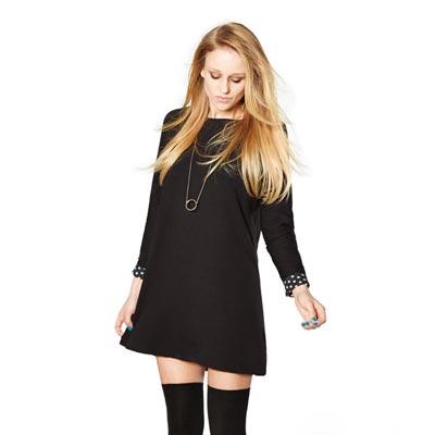 Kit couture robe trapèze décontractée noire