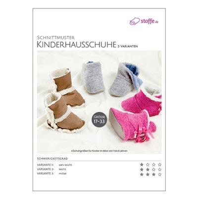 Schnittmuster Kinderhausschuhe – 3 Varianten