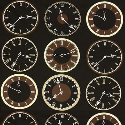 Tic-tac, tic-tac! Sono arrivati i tessuti arredo con fantasia di orologi a disponibilità limitata!