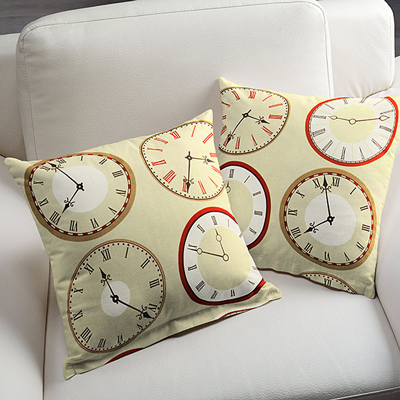 Tick, tack: limitadas telas de decoración con motivo de relojes