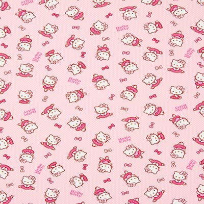 Tela de jersey Ballett de Hello Kitty – rosa