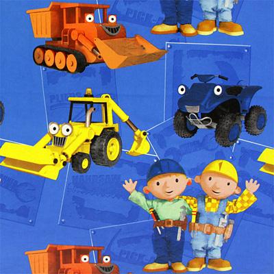 Tkaniny dziecięce: Bob Budowniczy, nowość