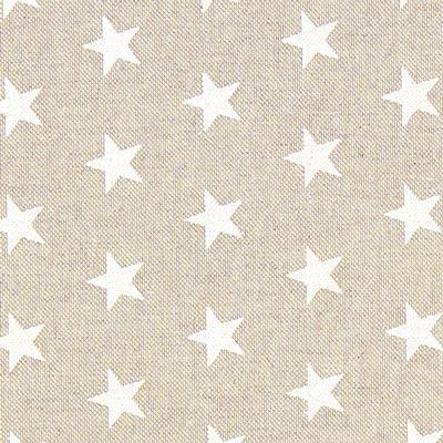 Tela navideña estrellas blancas – beige