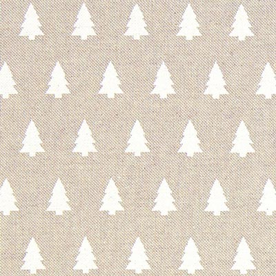 White Trees Christmas Fabric – beige