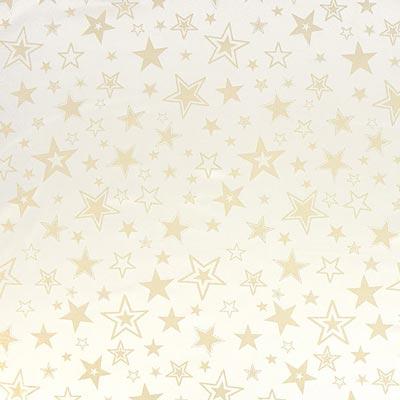 Weihnachtsstoff goldene Sterne – wollweiss