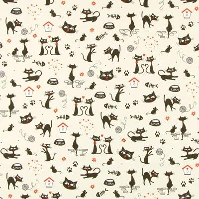 Cretonne Miauw Miauw 1
