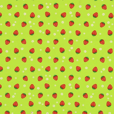 Furnishing Fabric Red Strawberries