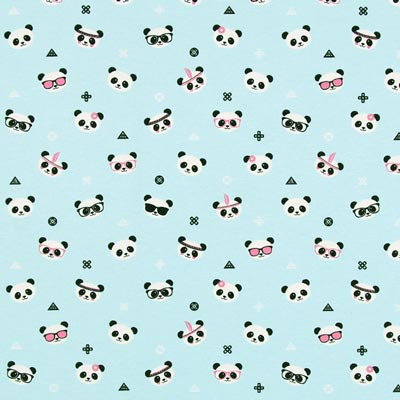 Furnishing Fabric Panda Bear