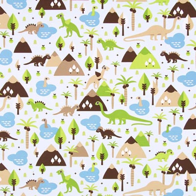 Furnishing Fabric Dinosaurs