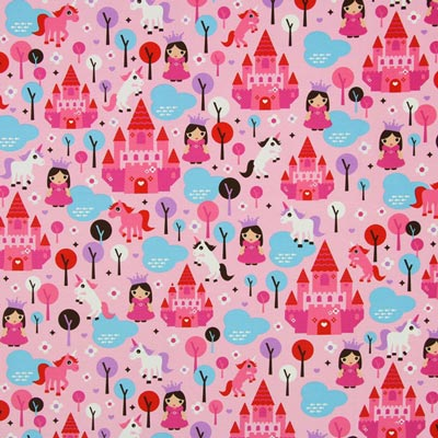 Princess Decor Fabric - pink