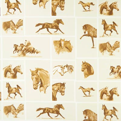 Furnishing Fabric Horses – off-white
